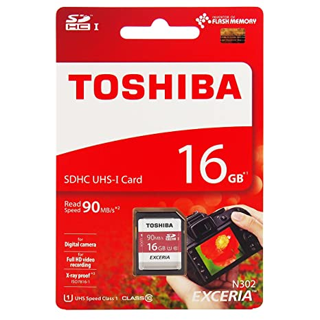Toshiba - Tarjeta de Memoria SDHC UHS-I (16 GB, Clase 10, 90 ...