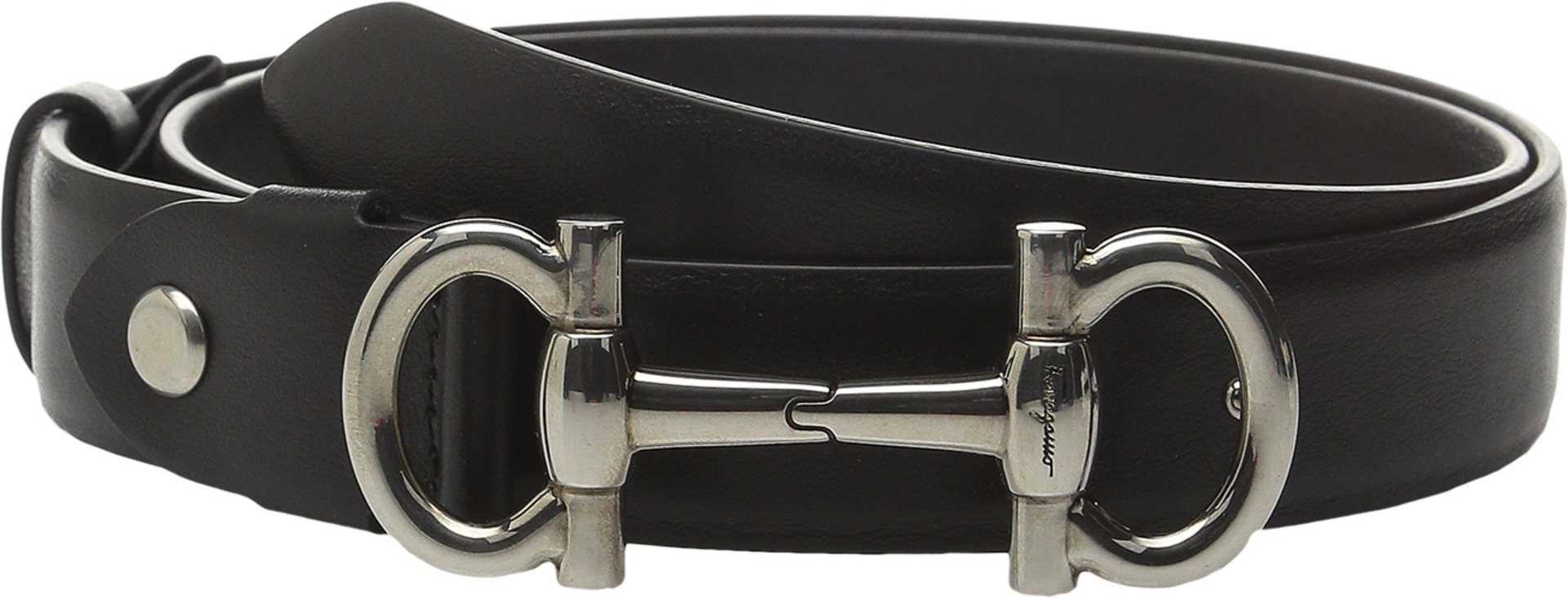 Salvatore Ferragamo Women's 23B336 Nero 85 (34'' Waist) by Salvatore Ferragamo