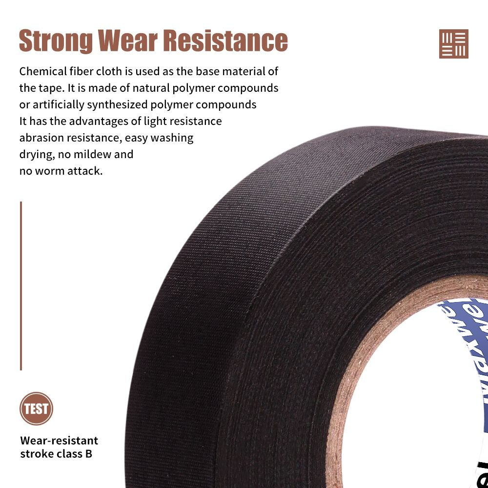 Automotive Wiring Harness Cloth Tape Maxwel Versaf51217 Chemical Supplies Fiber High Temp Wire Wrapping