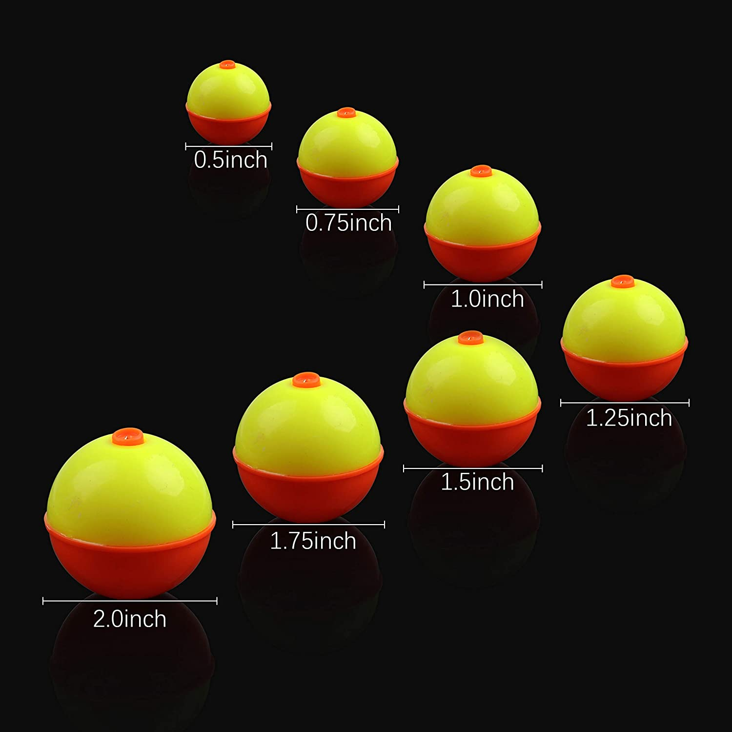 Fishing Bobbers Floats Set Snap-on Red Yellow Float Bobbers Push Button Round Buoy Floats Fishing Tackle Accessories 7sizes Available