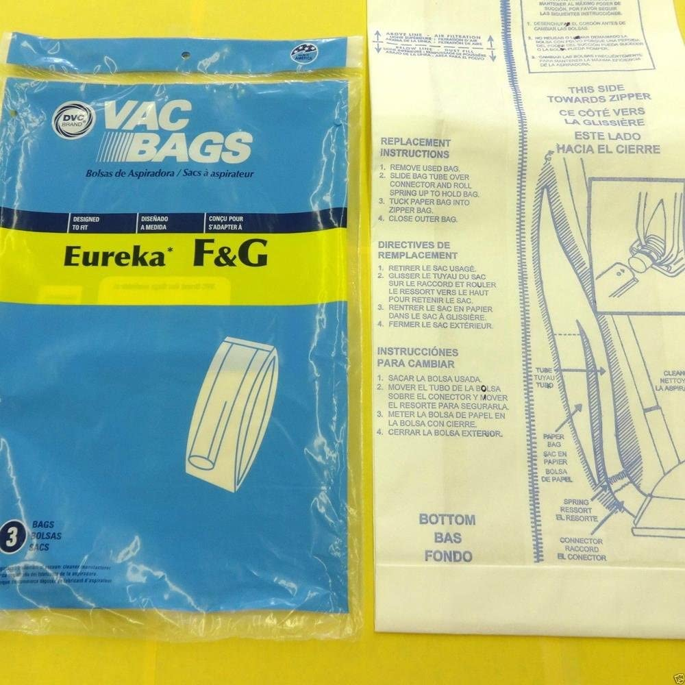 Household Supplies & Cleaning Eureka Sanitaire F&G Upright Vacuum Bags 3 Pack Made by DVC IN USA
