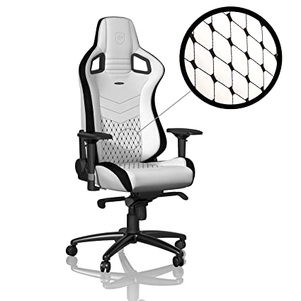 Stupendous Noblechairs Epic Gaming Chair Office Chair Pu Faux Leather 1350 Reclinable White Black Ibusinesslaw Wood Chair Design Ideas Ibusinesslaworg