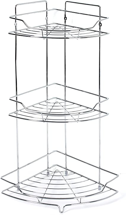 Estantería de ducha o bañera en metal – 3 niveles – 25 x 56 ...