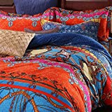 FADFAY 2017 New Bohemian Bedding Set, Boho Style Duvet Cover Set, Bohemia Exotic Fitted Sheet Set, 4Pcs Queen Size