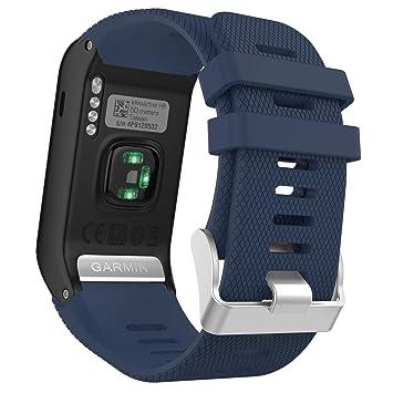 MoKo Garmin Vivoactive HR Correa de Reloj, Suave Silicona Reemplazo Watch Band para Garmin Vivoactive