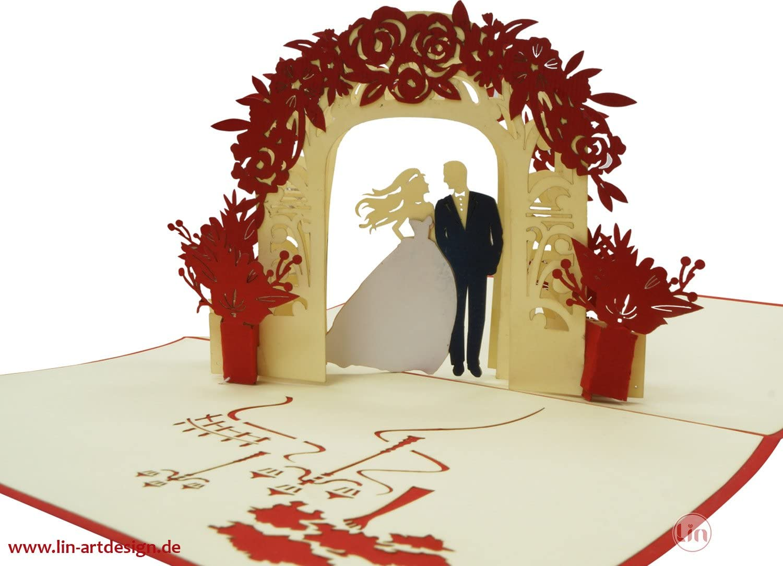 anniversario matrimonio /Pop Up 3d biglietto Matrimonio biglietto d auguri matrimonio matrimonio inviti 3d biglietti di auguri Biglietti matrimonio Pop Up matrimonio N290 LIN 17536/