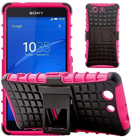 G-Shield Funda para Sony Xperia Z3 Compact, Carcasa Protectora Anti-Arañazos con Soporte, Rosa