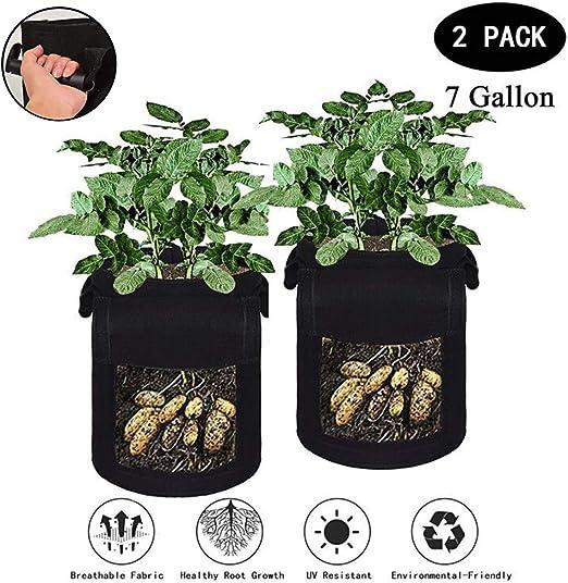 El más nuevo diseño de la manija Paquete de 2 bolsas de cultivo de ...