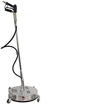 """Erie Tools 21"""" Stainless Steel Pressure Washer Flat Surface Cleaner with Wheels"""
