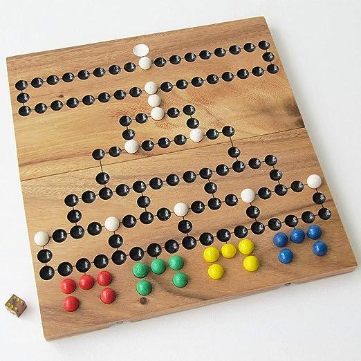 Barricada – Malfiz para 2 a 4 jugadores a partir de 6 años. Juego de mesa familiar de estrategia de madera maciza conforme a las normas CE. 26 x 26 cm. Marca