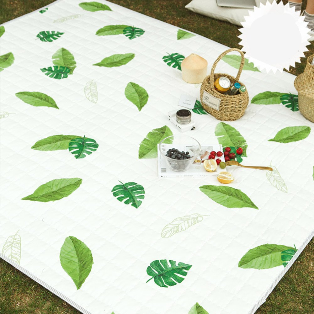 Rugs Area Rund waterproof anti-skidding household use wall-to-wall tea table crawl tatami mats outdoor picnic portable carpet machine washable-A 170x200cm(67x79inch)