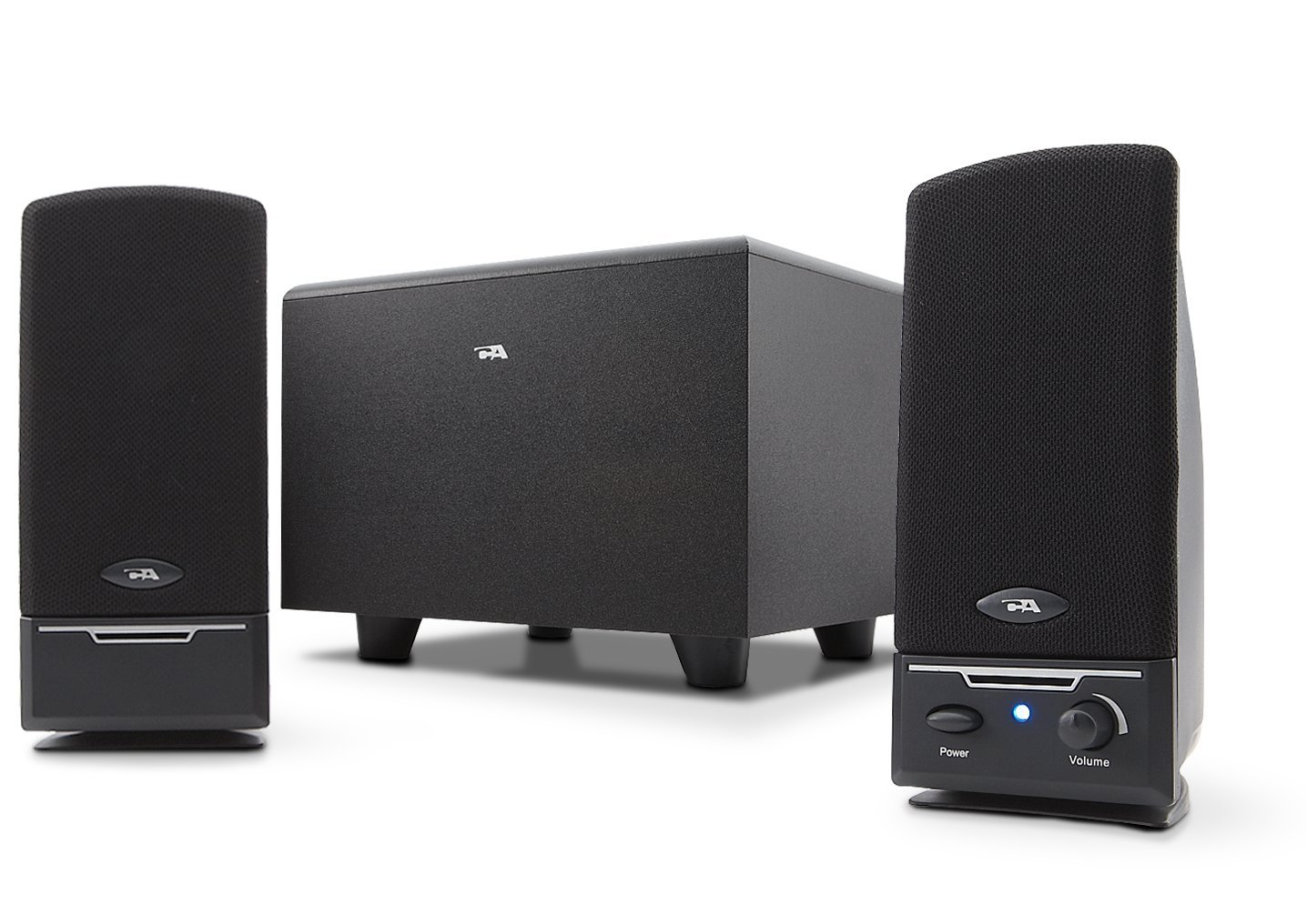 Cyber Acoustics CA-3001RB 3Pc Subwoofer and Satellite Speaker System, Black MP3 & Media Player Accessories