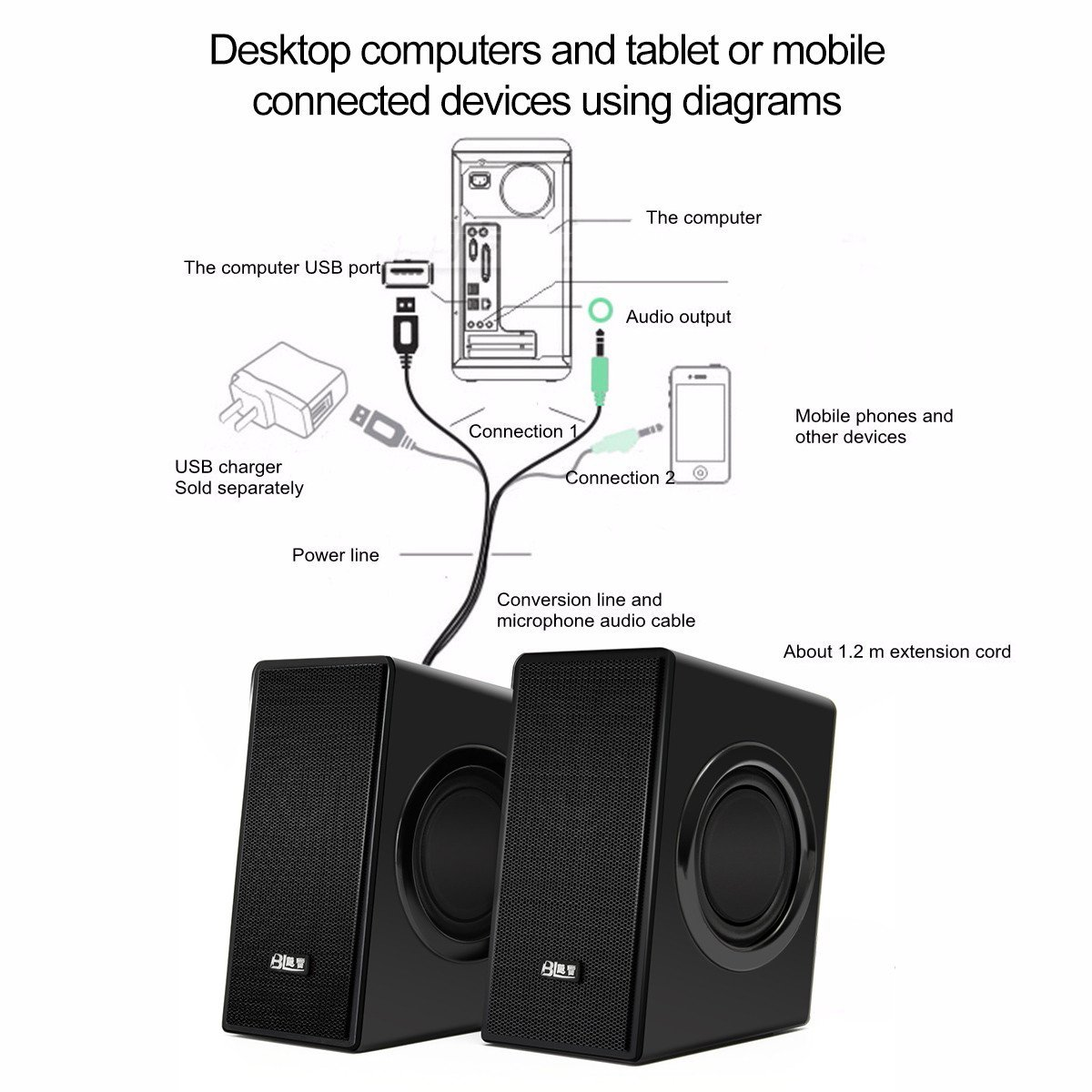 Logitech 2 1 Computer Speakers Wiring Diagram 45 Usb Speaker Sl1200 Amazon Com Elegiant Powered 21 Pc