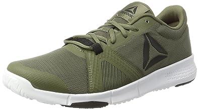 Reebok Trainflex Lite, Chaussures de Fitness Homme, Vert (Hero-Hunter Green/Multicolore Primal Red/Gris Coal/White), 42.5 EU