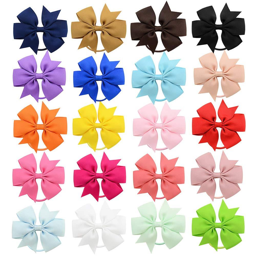 Fascette elastiche per capelli per bambine da 3,5 cm 40 pezzi