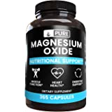 Magnesium Oxide, 760 mg/Serving, 365 Capsules, Lab Verified, No Artificial Flavors, Colors, Fillers or Additives, Gluten-Free
