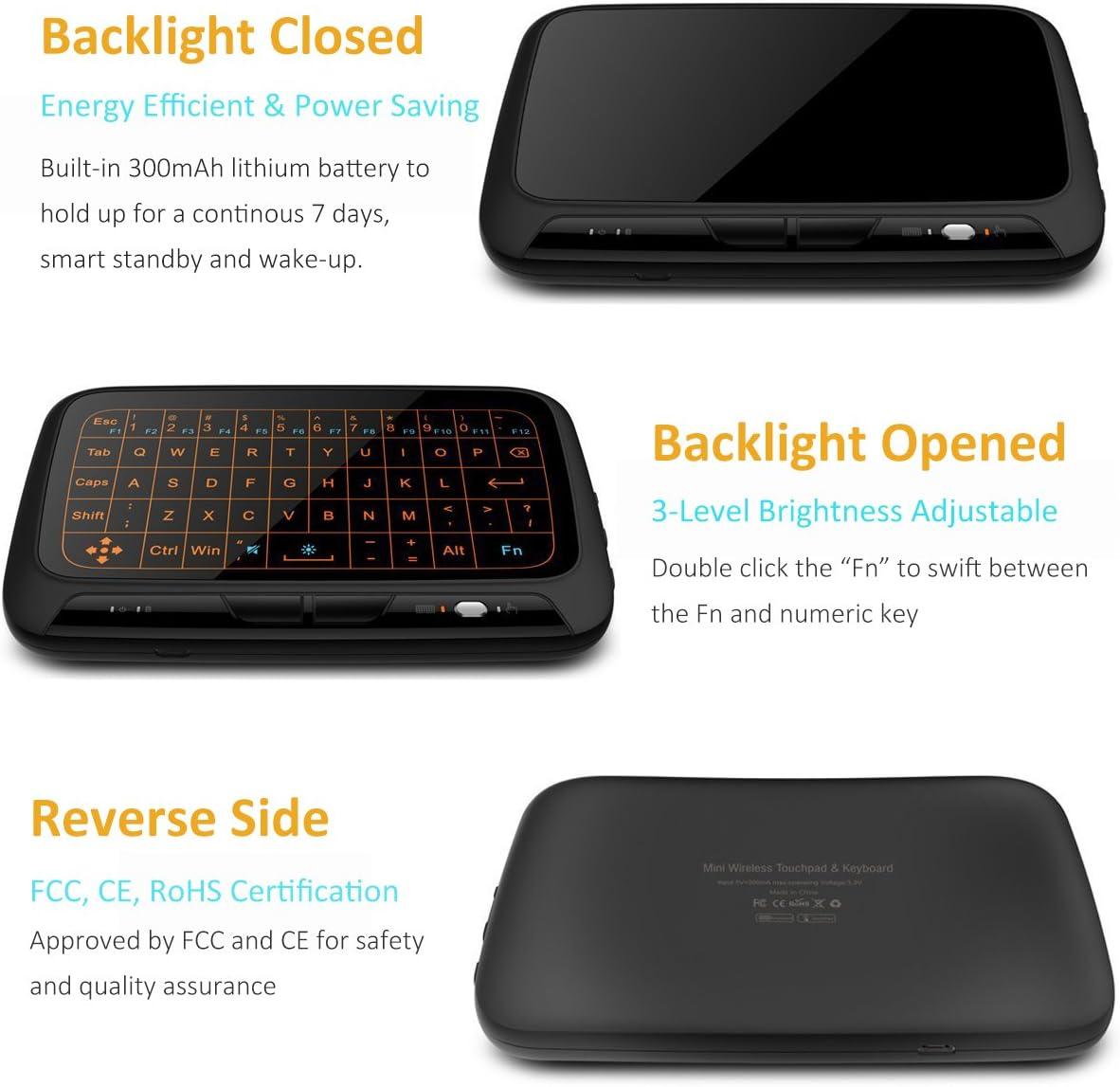 Mini Wirelesse Beleuchtete Tastatur Und Vollem Touchpad Computer Zubehör