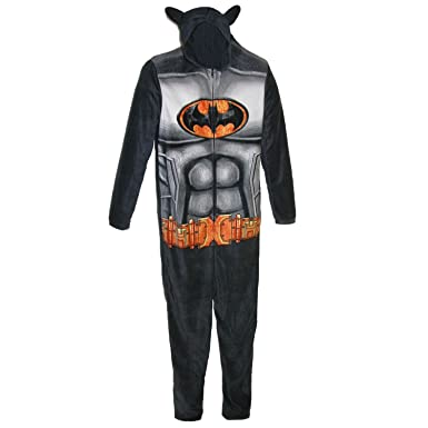 2d21b623 Amazon.com: DC Comics Batman Mens Fleece Hooded Costume Caped Union ...