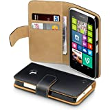 Terrapin - Nokia Lumia 630 / 635 (only for BLACK 635) Premium PU Leather Wallet Case / Cover with Card Slots and Cash Compartment - Black/Tan