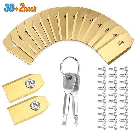 30 cuchillas de repuesto para cortacésped Husqvarna, cuchillas de ...