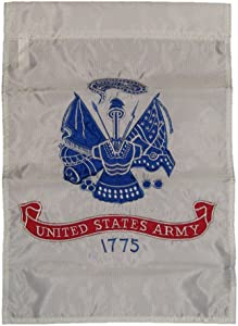 12x18 Embroidered U.S. Army White 1775 Garden Flag 12