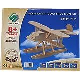 SODIAL(R) Kit de construction/Puzzles 3D de modele de l'avion Heinkel en bois