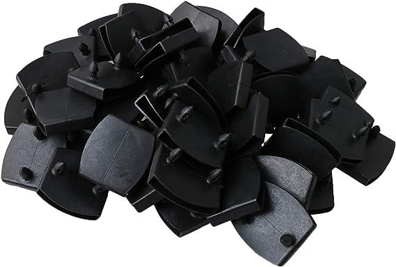 RDEXP Tapas de plástico para el centro de la cama, soportes de listones de repuesto para asegurar listones de madera en la cama, paquete de 50