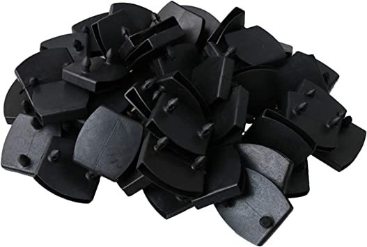 Yibuy 50 soportes de plástico de repuesto para cama de 53 mm de longitud.