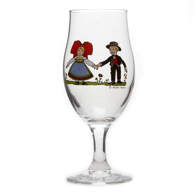 Coffret de 6 petits verres /à eau de vie motif Hansi