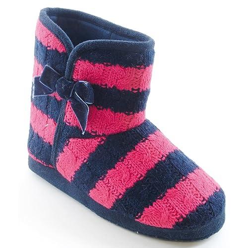 Botas / Zapatillas de estar por casa con detalle de lazo para niñas / chicas (