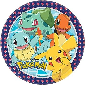 NET TOYS 8 Platos de Fiesta Pokémon - 22,8cm - Linda ...