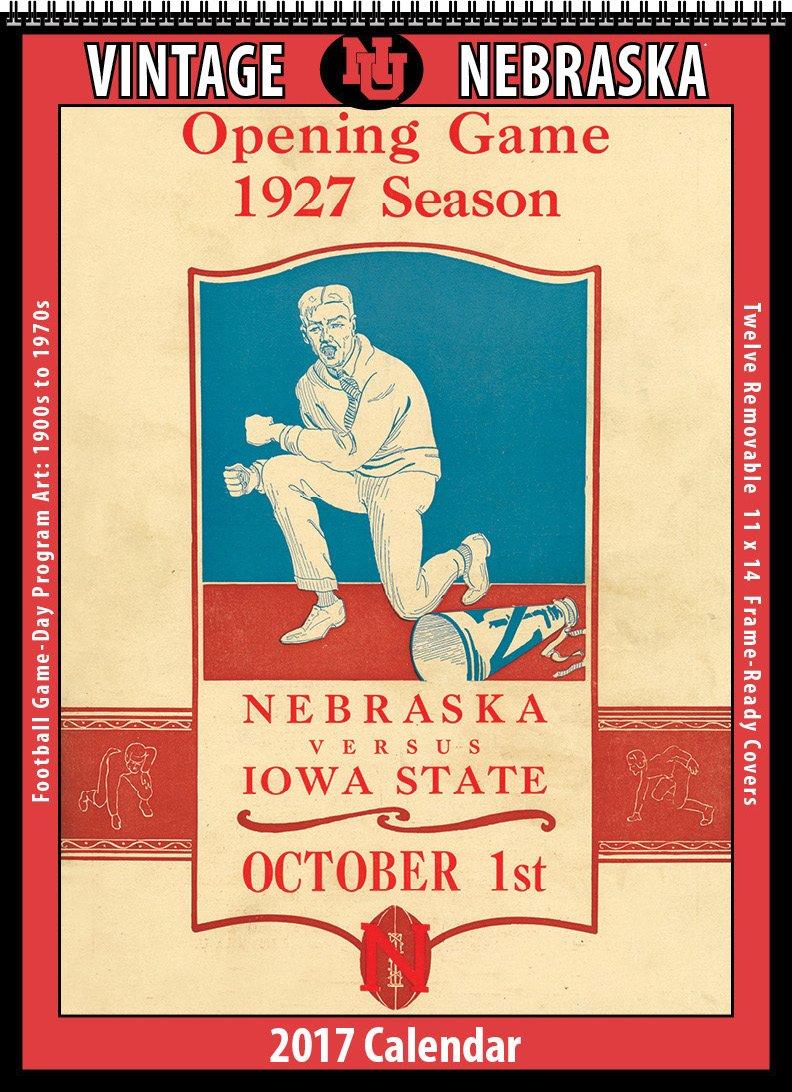 Amazon.com : Nebraska Vintage Football 2017 Wall Calendar : Office ...