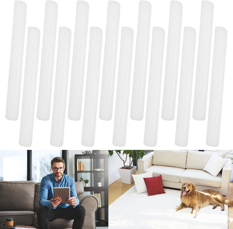 Foam Sticks Non Slip Foam Grips for Couch Slipcovers, Stretch Sofa Slipcover Foam Tucker Grips for Chaise Slipcover, Loveseat Slipcover, Couch Slip Covers, L-Shape Furniture Protector (14 Pack)