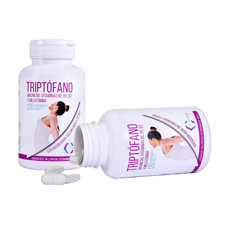 Triptófano y magnesio para mejorar el estado de ánimo y combatir el estrés – Triptófano con melatonina para ayudar a regular los ciclos de sueño – Con ...