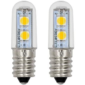 MENGS® Pack de 2 Bombilla lámpara LED 1 Watt E14, 7x 5050 SMD,