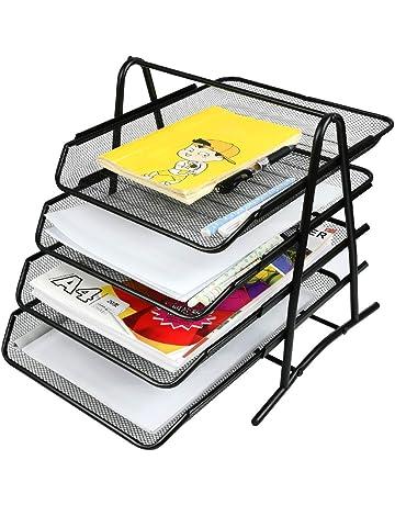 Amazon.es: Bandejas de correo y soportes apilables: Oficina y ...