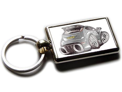 Koolart Ford Focus RS - Llavero de cromo con vista trasera ...