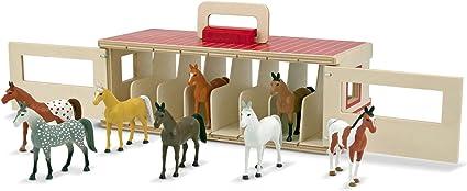Melissa /& Doug Wooden Horse Box  Play Set NEW