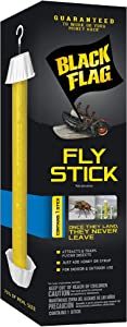 Black Flag HG-11015 Stick, Trap, Houseflies and Flying Insects, 1-Count, 6-Pack, 6, Clear