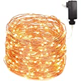LED String Lights 99ft 300 LEDs Fairy String Lights for Bedroom, Patio, Indoor/Outdoor Waterproof Copper Lights for Birthday, Wedding, Party Starry lights UL Listed Warm White (99ft ac plug)