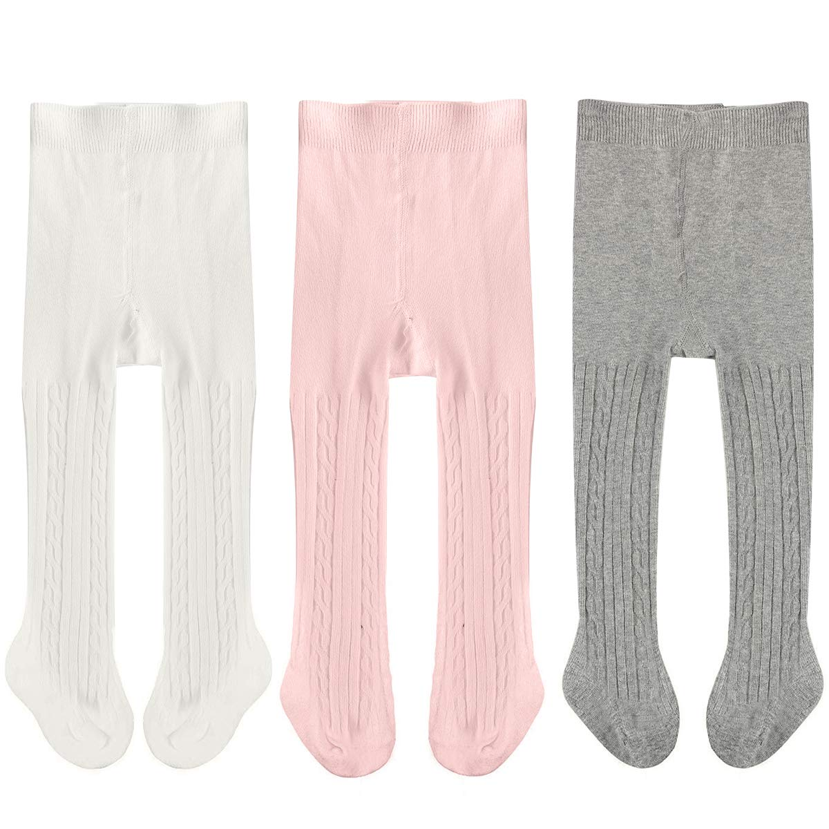 77a271038331b Galleon - 3 Pack Newborn Baby Leggings Cotton Seamless Baby Tights Toddler Infant  Footed Stocking Pantyhose For Baby Boys Girls (12-24 Months, ...