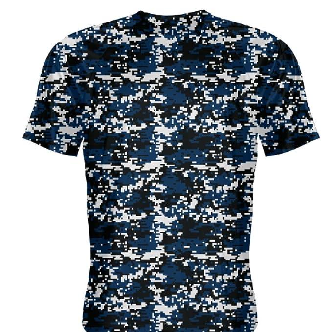 f44df4d145e Amazon.com: LightningWear Youth Navy Blue Digital Camouflage Basketball  Shooter Shirts Youth, Orange: Clothing