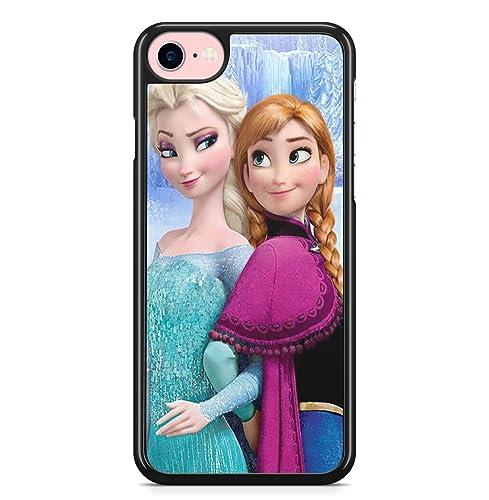 Coque iphone 4S 5S SE 5C 6S 7 8 Plus X XS MAX XR elsa ana frozen ...