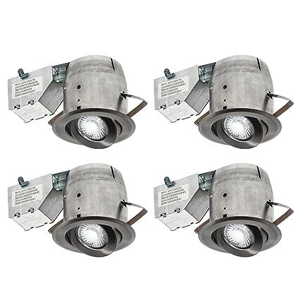 amazon com nadair 4in led recessed lighting kit x4 swivel