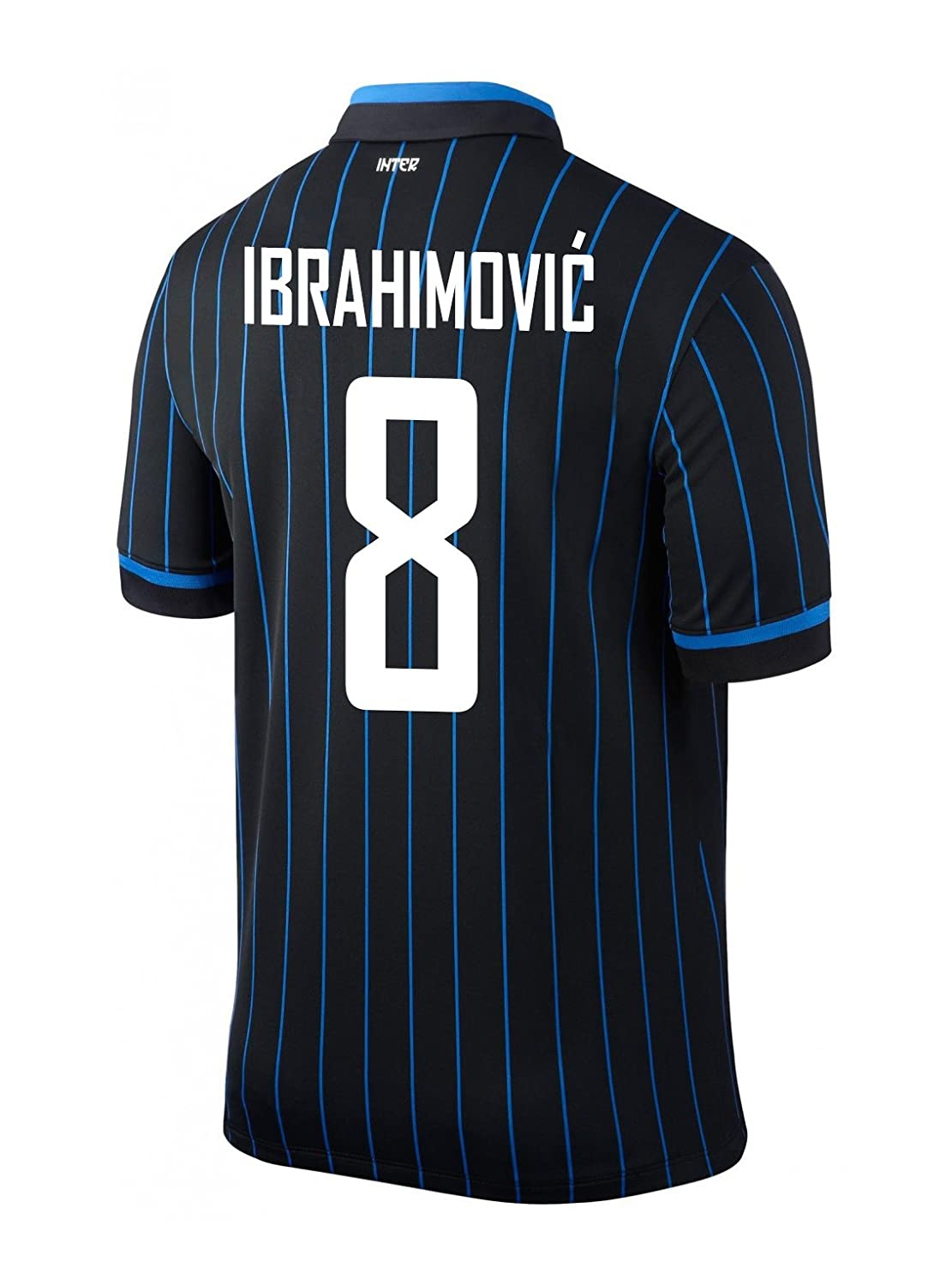Amazon.com: Ibrahimovic # 8 Inter Milan Home 2014/2015, XL ...
