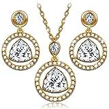 LADY COLOUR - Amulette - Bijoux Parure Femme Collier Boucles d'oreilles - cristaux de SWAROVSKI® - la collection LUMIERE ET OMBRE