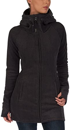 Bench Damen Sweatshirt Fleecejacke Slinkerton grau (Dark
