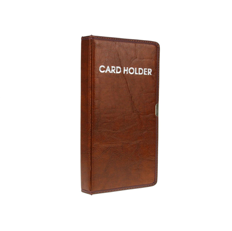 Visitenkartenmappe f/ür 120 Karten Leder Visitenkartenetui Kreditkartenetui mit 20 H/üllen Kompakte Visienkartenb/ücher zurAufbewahrung von Karten und Ausweis