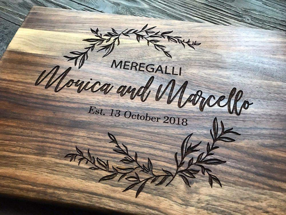 Personalized Cutting Board Custom Couple Family Oak Home Sweet Home Wood Engraved Wedding Gift Anniversary Housewarming Birthday Bridal Shower Christmas Mother