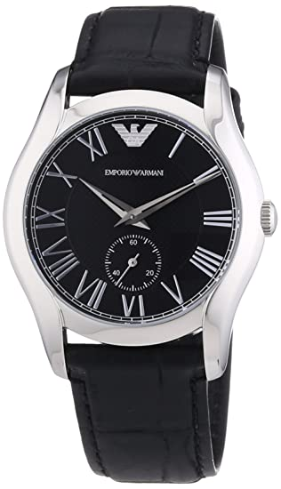 a37924af3d Emporio Armani AR1708 Unisex Analogue Quartz Watch - Black Leather Strap:  Amazon.co.uk: Watches